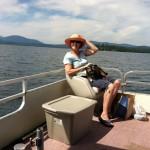 ang and gracie at the lake